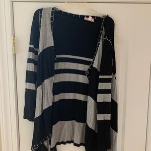 Black and gray Size M cardigan